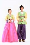 Παιδιά στο κορεατικό φόρεμα Στοκ φωτογραφία με δικαίωμα ελεύθερης χρήσης