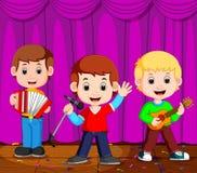 Παιδιά στο παιχνίδι ζωνών στη σκηνή απεικόνιση αποθεμάτων
