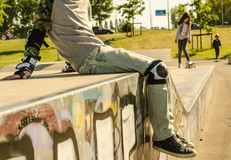 Παιδιά στο σαλάχι-πάρκο Στοκ Εικόνα