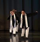 Παιδιά στο σκηνικό εβραϊκό χορό Στοκ Εικόνες