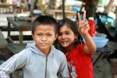 Παιδιά στο χωριό Στοκ Εικόνες