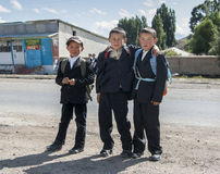 Παιδιά του Κιργιστάν Στοκ φωτογραφίες με δικαίωμα ελεύθερης χρήσης