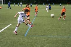 Παιδιά του παιχνιδιού BSC SChwalbach Στοκ Φωτογραφία