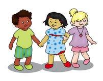παιδιά τρία Στοκ Εικόνες
