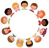 Παιδιά των φίλων του κόσμου διανυσματική απεικόνιση