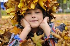 Παιδιά Autamn Στοκ Εικόνες