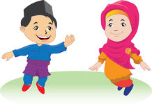 Παιδιά Melayu σε Patani 01 Στοκ Φωτογραφίες