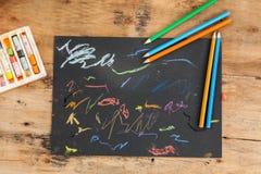Παιδιά sketchpad στοκ εικόνες