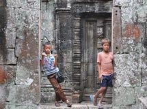 Παιδιά Wat Angkor Στοκ εικόνα με δικαίωμα ελεύθερης χρήσης