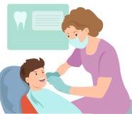 Παιδιατρική διανυσματική απεικόνιση οδοντιάτρων Γιατρός Στοκ φωτογραφίες με δικαίωμα ελεύθερης χρήσης
