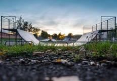 Παιδική χαρά για τα skateboarders Στοκ Εικόνες