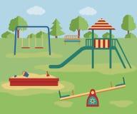 παιδική χαρά κατσικιών επίσης corel σύρετε το διάνυσμα απεικόνισης Στοκ εικόνα με δικαίωμα ελεύθερης χρήσης