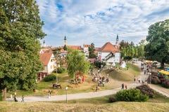 Παιδική χαρά μπροστά από την παλαιά πόλη Varazdin στοκ εικόνα