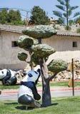 Παιδική χαρά παιδιών με τα pandas Στοκ φωτογραφία με δικαίωμα ελεύθερης χρήσης