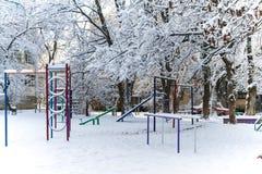Παιδική χαρά παιδιών ` s το χειμώνα Στοκ εικόνες με δικαίωμα ελεύθερης χρήσης