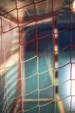 Παιδική χαρά ποδοσφαίρου ή χάντμπολ Πύλη καθαρή Στοκ φωτογραφίες με δικαίωμα ελεύθερης χρήσης