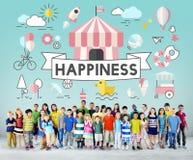 Παιδιών εύθυμη έννοια νεολαίας παιδιών ενεργητική στοκ εικόνες