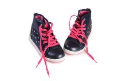 Παιδιών πάνινα παπούτσια που απομονώνονται μοντέρνα στο λευκό Στοκ Εικόνες