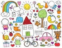 Παιδιών doodle Στοκ Φωτογραφίες