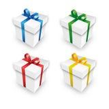 Πακέτα δώρων Χριστουγέννων σε ένα σύνολο Στοκ εικόνα με δικαίωμα ελεύθερης χρήσης