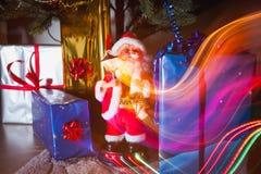 Πακέτα Santa και δώρων Στοκ φωτογραφία με δικαίωμα ελεύθερης χρήσης