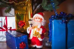 Πακέτα Santa και δώρων Στοκ Εικόνα
