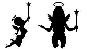 Πακέτο αγγέλων 21 ζωτικότητες βρόχων Άλφα κανάλι Άλφα μεταλλίνη 4K απεικόνιση αποθεμάτων