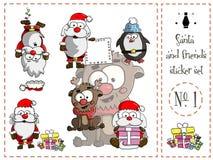 Πακέτο αυτοκόλλητων ετικεττών, Santa και φίλοι αριθμός 1 Στοκ φωτογραφίες με δικαίωμα ελεύθερης χρήσης