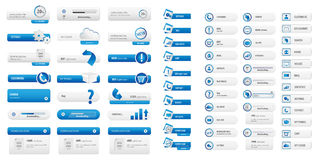 Πακέτο επιχειρησιακών μπλε κουμπιών Στοκ φωτογραφία με δικαίωμα ελεύθερης χρήσης
