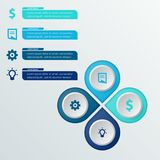 Πακέτο προτύπων Infographic που τίθεται για τις επιχειρησιακές παρουσιάσεις Στοκ φωτογραφίες με δικαίωμα ελεύθερης χρήσης