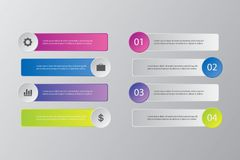 Πακέτο προτύπων Infographic που τίθεται για τις επιχειρησιακές παρουσιάσεις Στοκ φωτογραφία με δικαίωμα ελεύθερης χρήσης