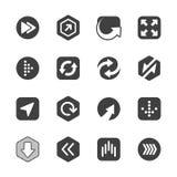 Πακέτο σημαδιών βελών που απομονώνεται στο λευκό διάνυσμα Στοκ Εικόνες