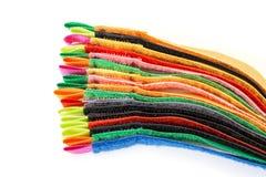 Πακέτο των ζωηρόχρωμων λουρίδων Velcro Στοκ Φωτογραφία