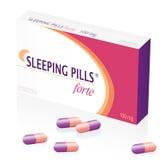 Πακέτο φαρμάκων χαπιών ύπνου Στοκ Φωτογραφία