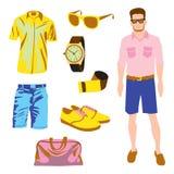 Πακέτο χαρακτήρα Hipster για το αγόρι geek με το εξάρτημα Στοκ φωτογραφίες με δικαίωμα ελεύθερης χρήσης