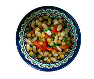 Πακιστανική μικτή σαλάτα φασολιών Στοκ Εικόνα