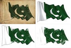 Πακιστανική σημαία Στοκ φωτογραφίες με δικαίωμα ελεύθερης χρήσης