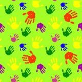 παλάμες χεριών χρώματος ανασκόπησης διανυσματική απεικόνιση
