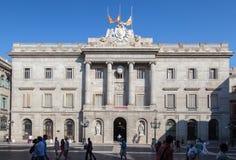 Παλάου de Λα Generalitat Βαρκελώνη Στοκ Φωτογραφία