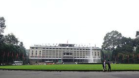 Παλάτι ανεξαρτησίας στη πόλη Χο Τσι Μινχ στο Βιετνάμ απόθεμα βίντεο