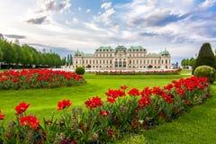 παλάτι ανώτερη Βιέννη πανορ&alph στοκ φωτογραφία