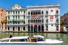 Παλάτι ασβεστίου ` δ ` Oro στο μεγάλο κανάλι στη Βενετία Στοκ Φωτογραφία