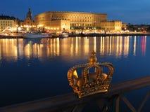 παλάτι βασιλική Στοκχόλμη στοκ φωτογραφία