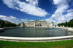 παλάτι Βιέννη πανοραμικών πυ στοκ εικόνες