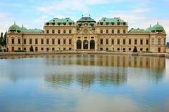 παλάτι Βιέννη πανοραμικών πυ στοκ φωτογραφία με δικαίωμα ελεύθερης χρήσης
