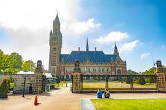 Παλάτι ειρήνης στη Χάγη οι Κάτω Χώρες στοκ εικόνες