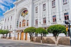 Παλάτι ιδιοτήτων κυβερνήτη Chuquisaca σε Plaza 25 τετράγωνο de Mayo σε Suc Στοκ Εικόνες