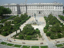 παλάτι Ισπανία της Μαδρίτης Στοκ Φωτογραφία