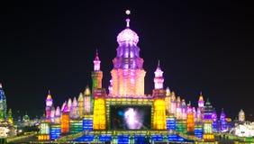 Παλάτι Κίνα φαναριών πάγου Στοκ Εικόνες