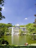 Παλάτι κρυστάλλου της Μαδρίτης Στοκ εικόνα με δικαίωμα ελεύθερης χρήσης